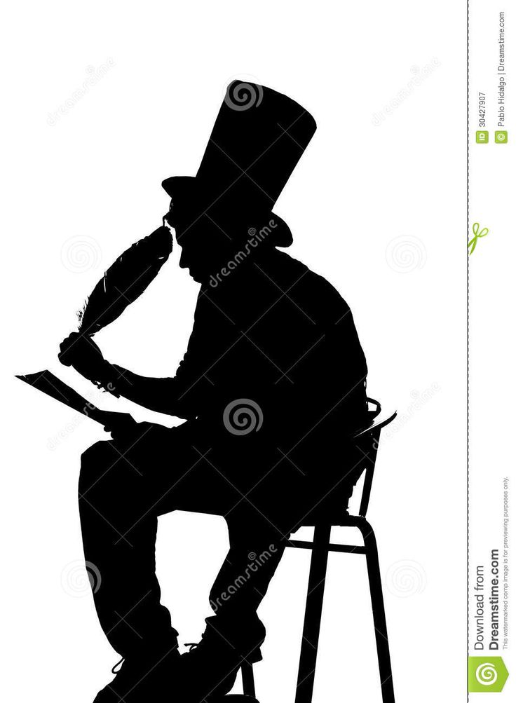 Man Writing Silhouette