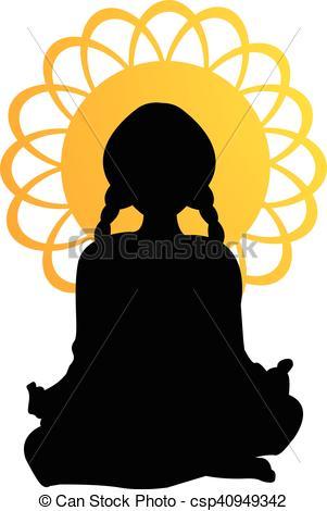 301x470 Meditation Silhouette Mandala Eps Vector