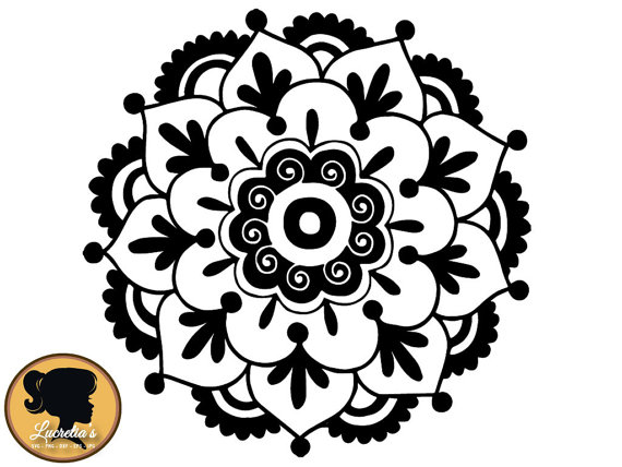 570x428 Flower Mandala SVG Cut Files For Vinyl Cutters, Screen Printing