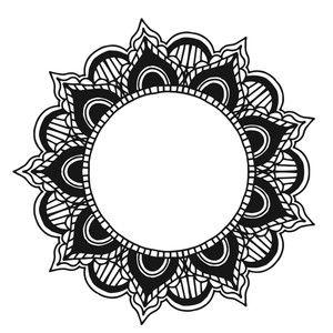 300x300 Mandala Silhouette Design, Mandala And Silhouettes