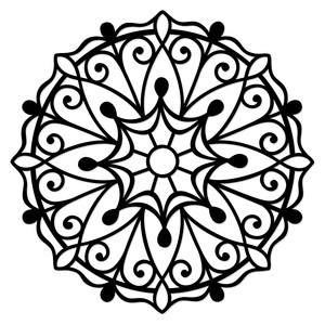 300x300 Mandala Silhouette Design, Silhouette And Mandala