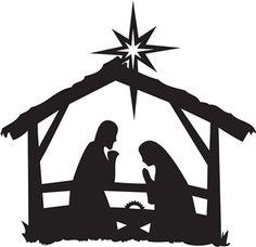 236x228 Nativity Scene Silhouette Nativity Silhouettes Nativity Scene