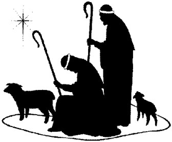 336x276 Free Nativity Clipart Silhouette Banner