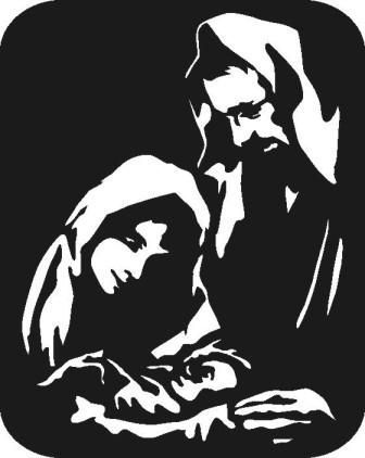 336x422 Free Silhoutte Nativity Scene Patterns Nativity Silhouette