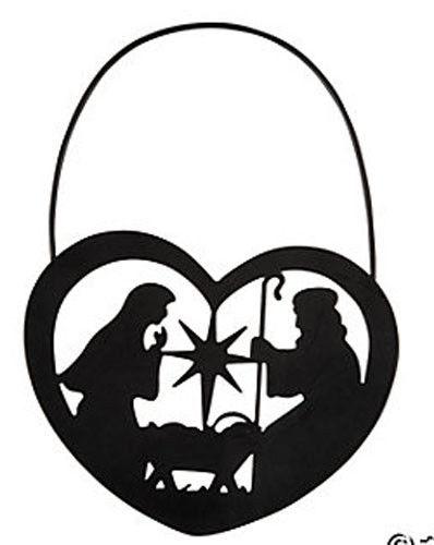 398x500 Fe Otc Christmas Religious Black Metal Ornament