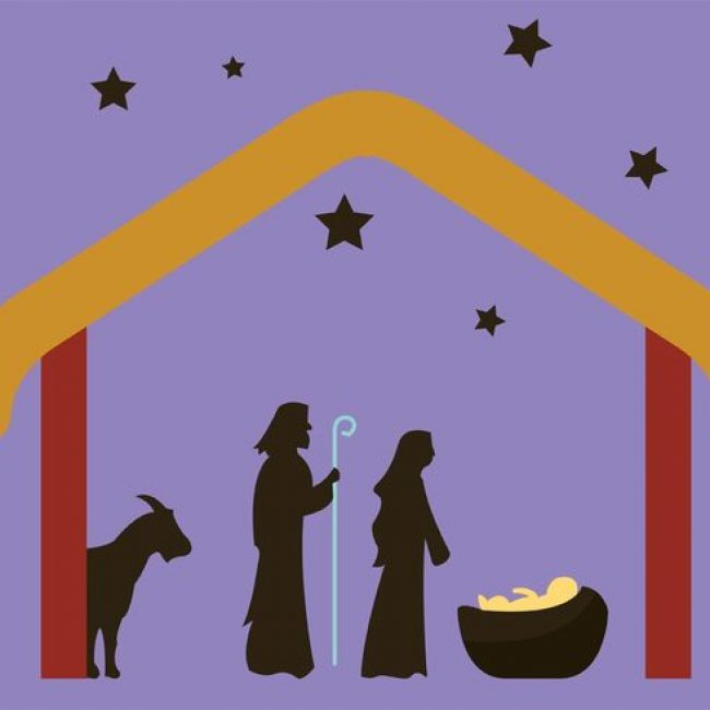 650x650 Free Vector Manger Scene Nativity Scene