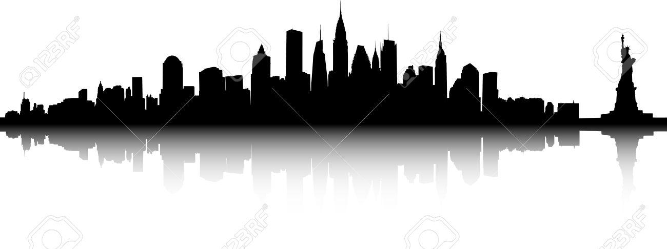 1300x486 Skyline Clipart Nyc Skyline
