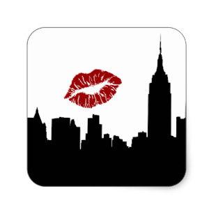 307x307 New York City Skyline Stickers Zazzle