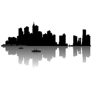 324x324 Silhouette Of New York Skyline Silhouette, City Skylines