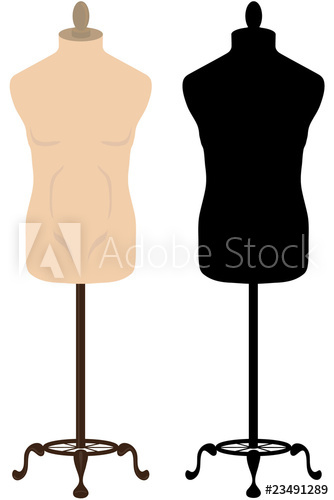 334x500 Male Tailors Mannequin And Silhouette