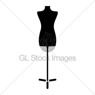 325x325 Classic Female Mannequin Silhouette Gl Stock Images