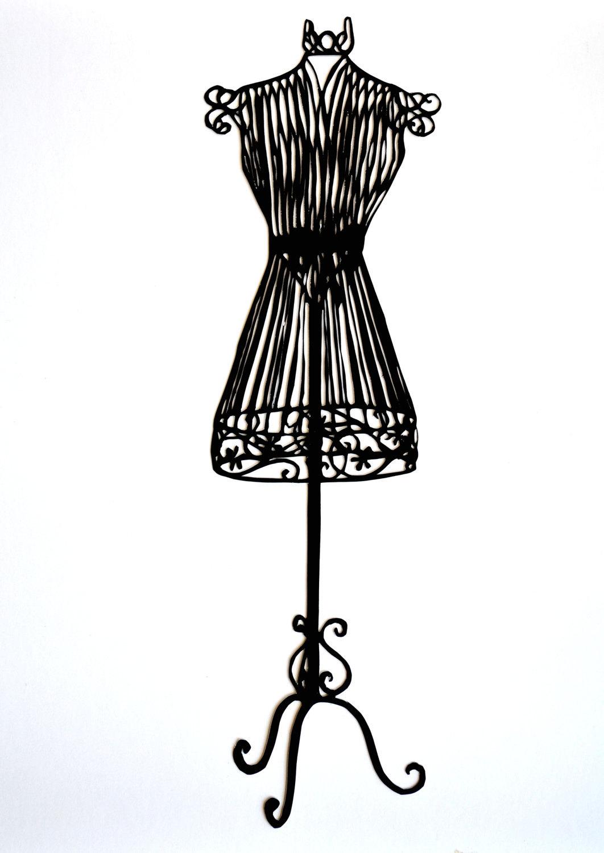 1062x1500 Dress Form Silhouette Clipart