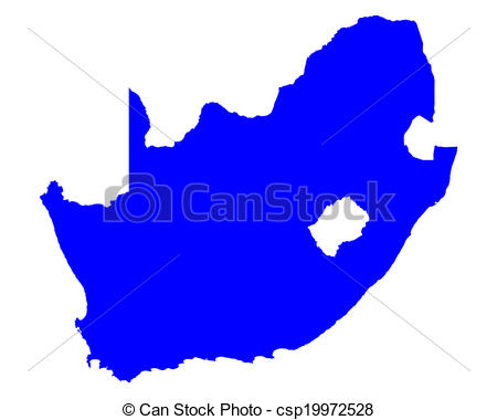 450x380 Map Of South Africa Vector Illustration