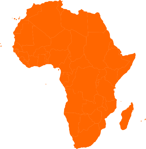 588x600 Africa Silhouette Vector. Silhouette In Africa. Africa Pattern