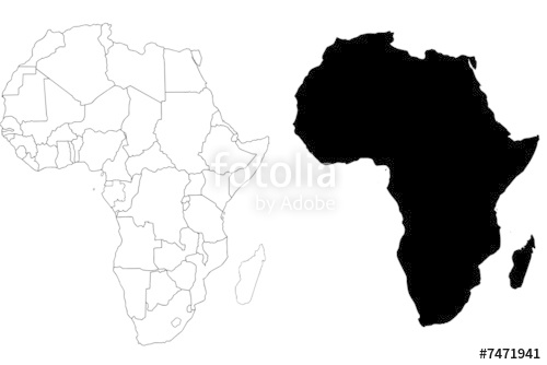 500x334 Africa Map Vector Countries Stock Image And Royalty Free Vector
