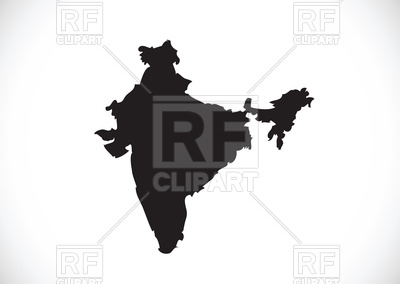 400x284 India Map Silhouette Royalty Free Vector Clip Art Image