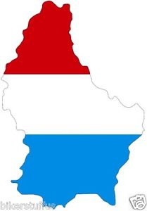 209x300 Luxembourg Silhouette Bumper Decal Map Flag Tool Box Sticker