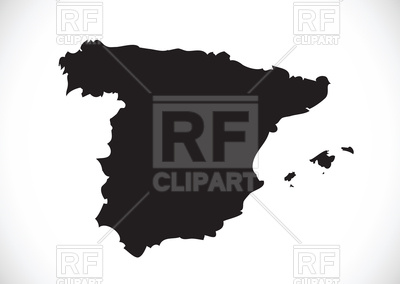 400x284 Map Of Spain Silhouette Royalty Free Vector Clip Art Image
