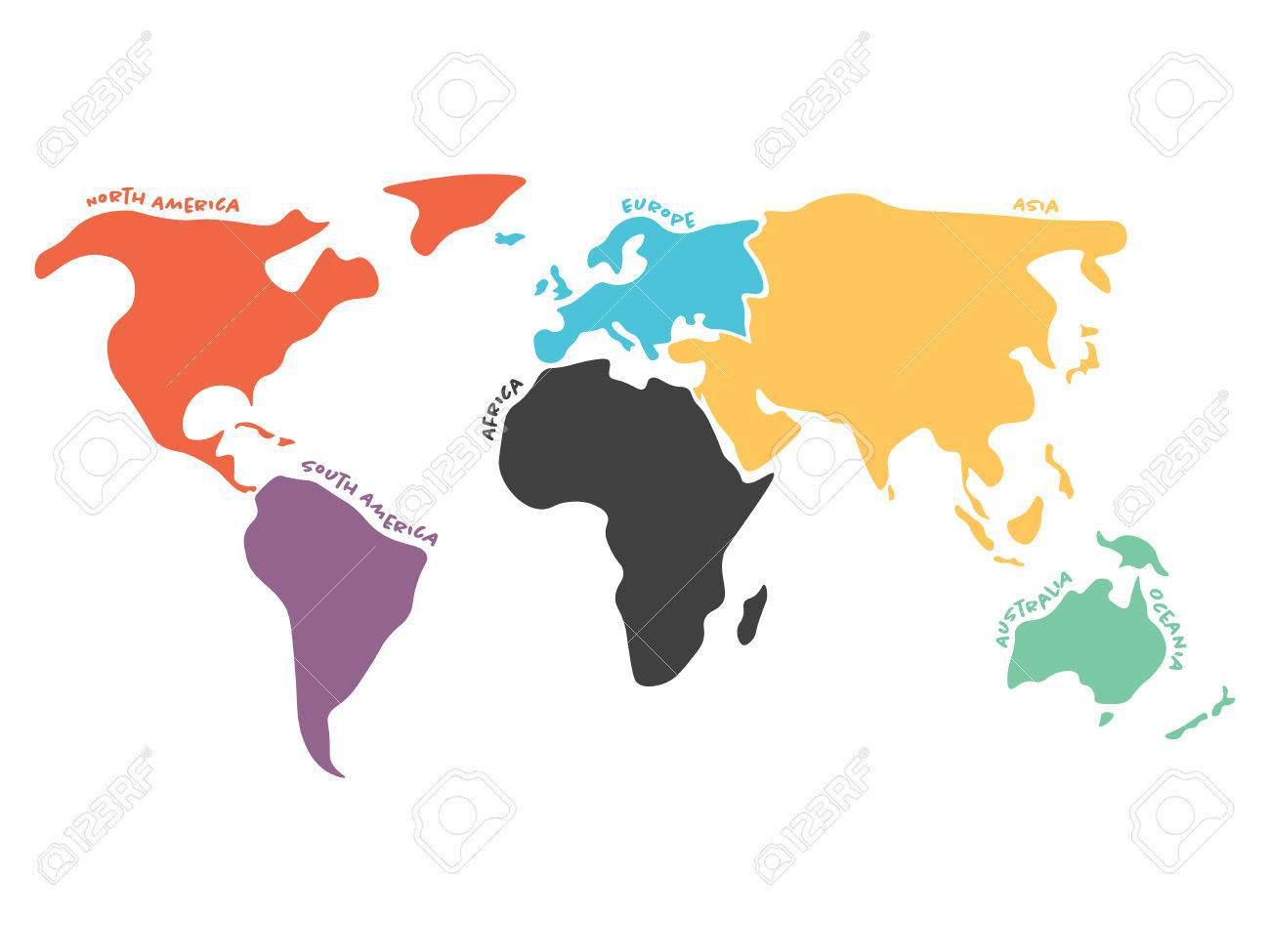 1300x975 World Map Silhouette Clipart