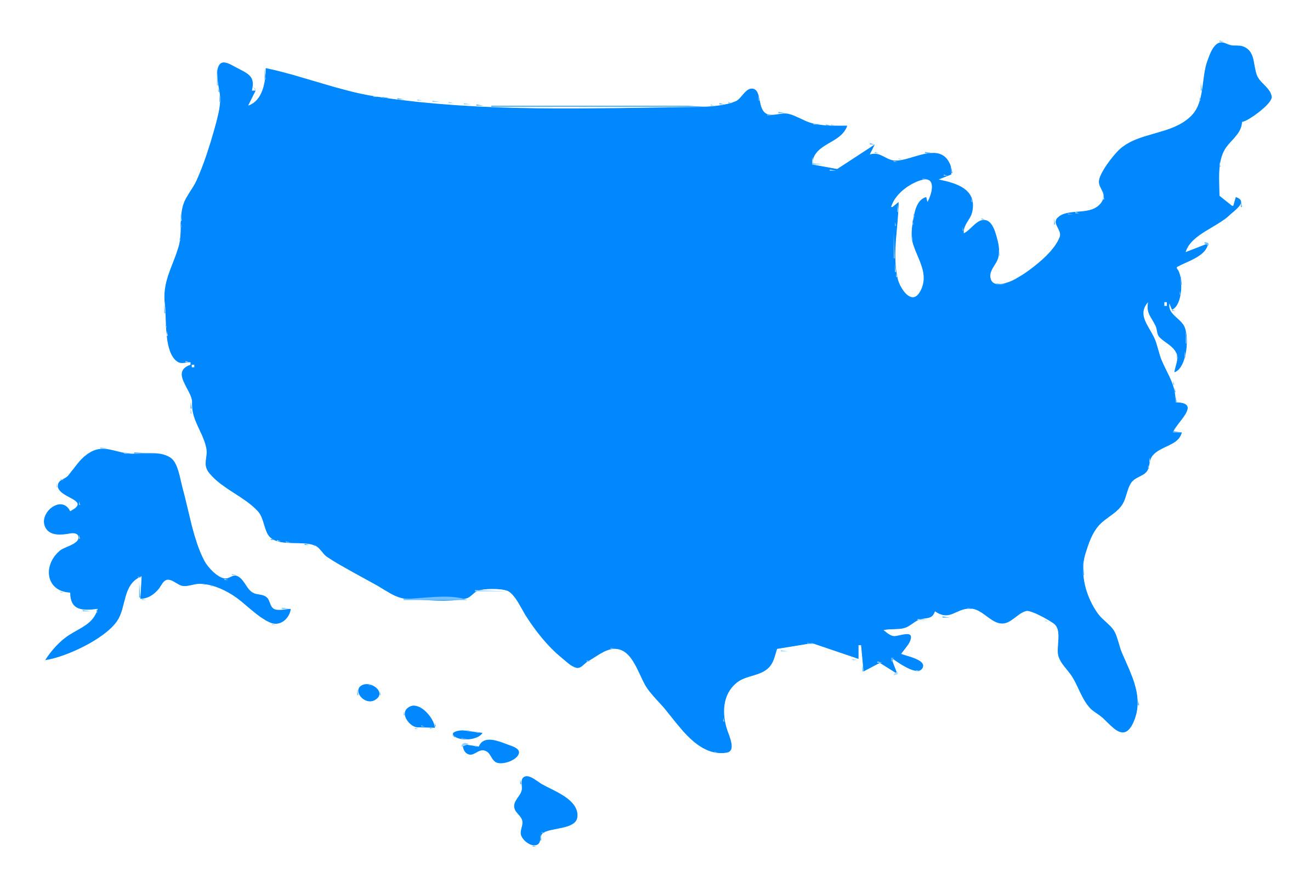 2400x1636 Clipart Usa Map Silhouette Brilliant Us Clip Art