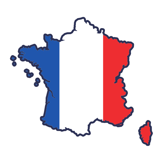 550x550 France Map Silhouette