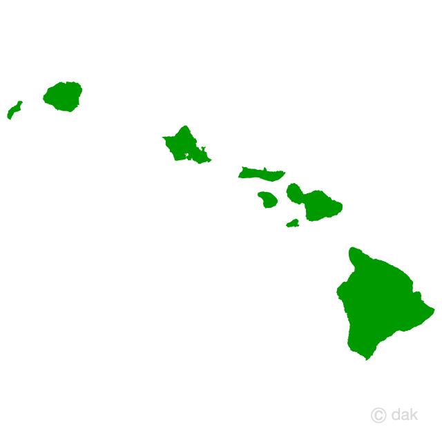 640x640 Free Hawaiian Island Map Silhouette Cartoon Amp Clipart