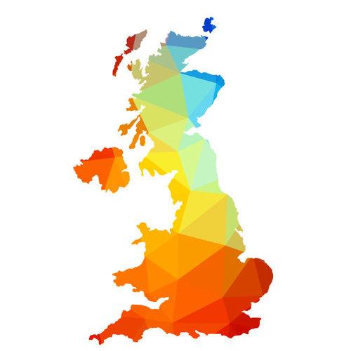 500x500 Great Britain Map Silhouette Public Domain Vectors