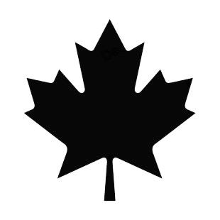310x310 Maple Leaf Silhouette Plants Decals, Decal Sticker