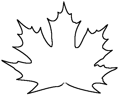404x331 Oversized Maple Leaf Silhouette From Reclaimed Wood
