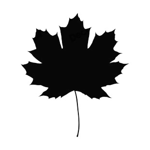 310x310 Toothed Maple Leaf Silhouette Plants Decals, Decal Sticker