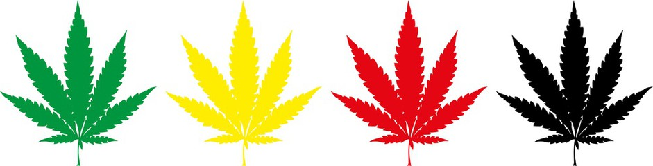 941x240 Weed Clipart Leaf Silhouette
