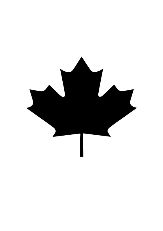 570x806 Canada Canadian Maple Leaf Outline Laptop Cup Decal Svg Digital