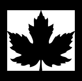 263x262 Free Svg Pdf Png Jpg Eps Maple Leaf Silhouette Writing On