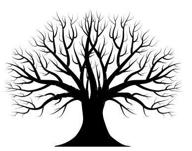 388x305 Silhouette Tree Maple Tree Silhouette Clipart Kid 2