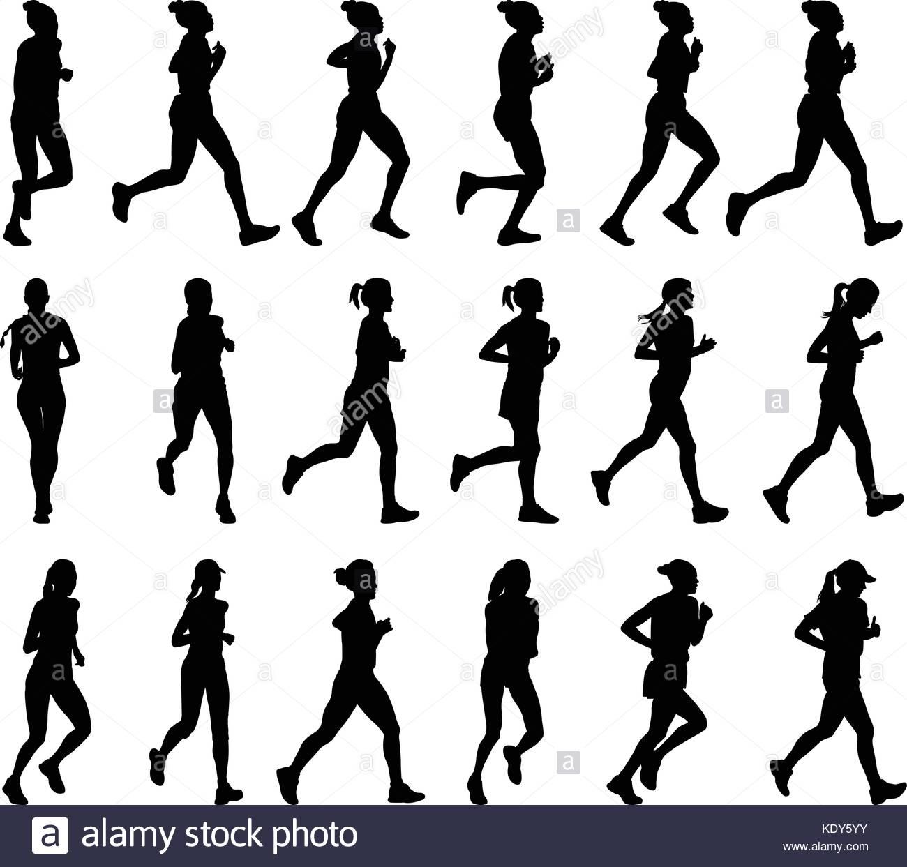 Marathon Running Silhouette