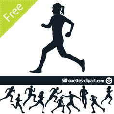 236x236 Marathon Running Silhouette Vector For Running Race And Athletic