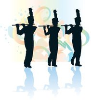 189x210 Parade Marching Band Musicians Premium Clipart