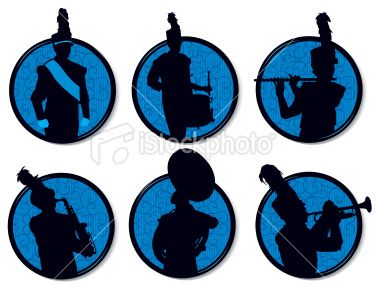 380x286 Tight Graphic Silhouette Illustrations Of A Drum Major, Drummer