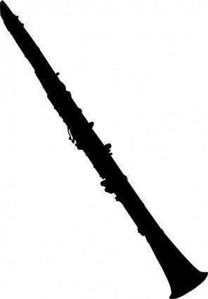 296x425 Clarinet Silhouette, Clip Art