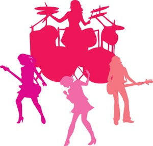 300x286 Free Girl Band Clipart