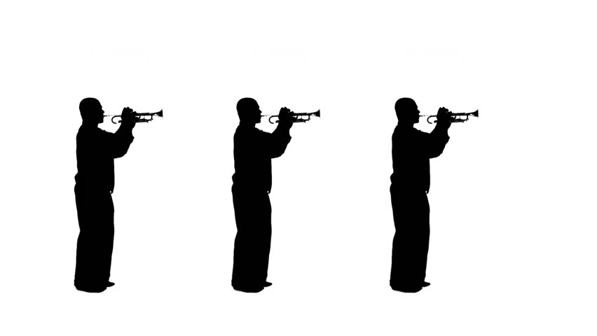 852x480 Marching Band Silhouette Footage Stock Clips