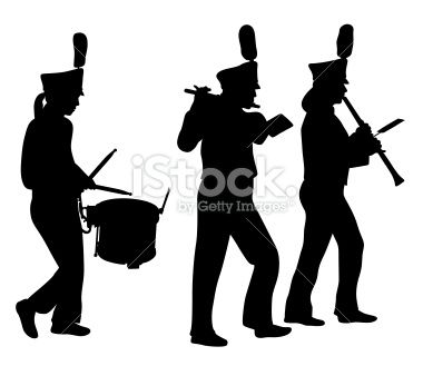 380x329 Marching Band Silhouette Clipart