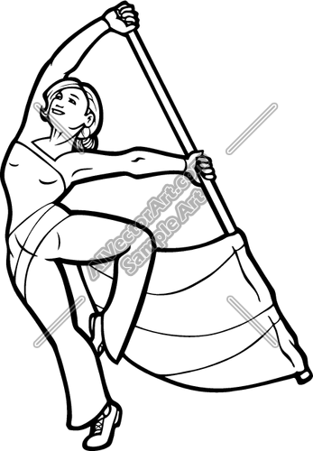 347x500 Colorguard Girl Clipart And Vectorart Sports