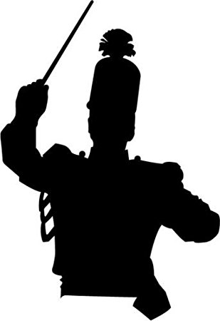 309x450 Drum Major Marching Band Car Decal Window Sticker