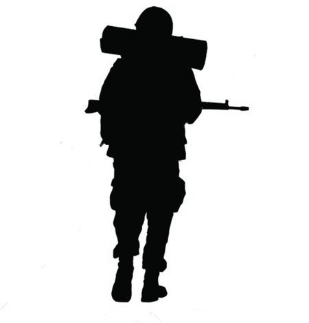 450x470 Soldier Silhouette Walking