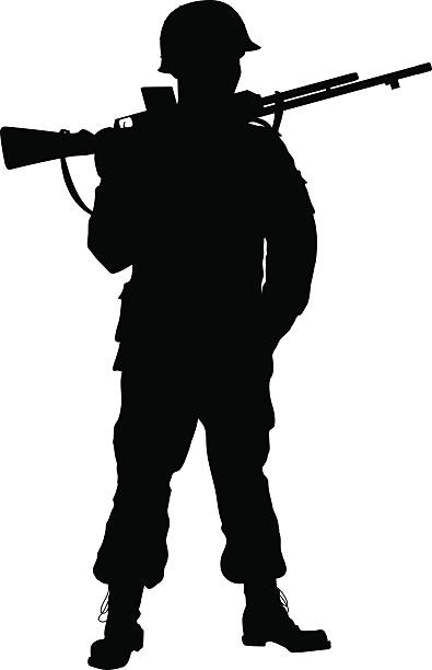 marching soldier silhouette at getdrawings com free for personal rh getdrawings com  fallen soldier silhouette clip art