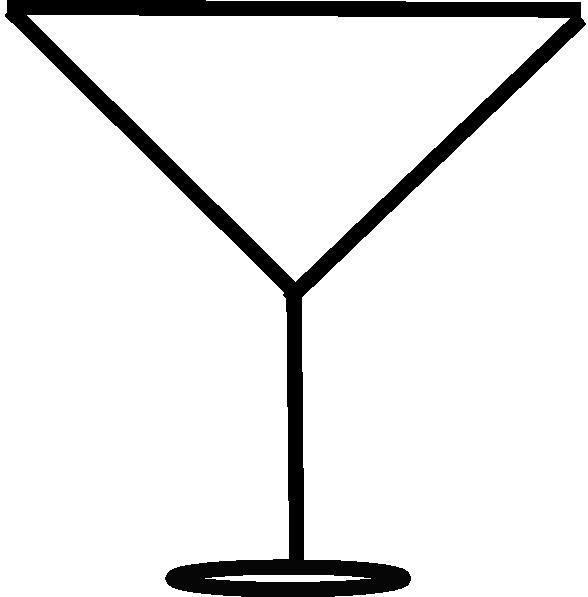 588x597 Margarita Glass Outline Clip Art