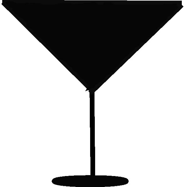 588x597 Margarita Glass Silhouette Clip Art