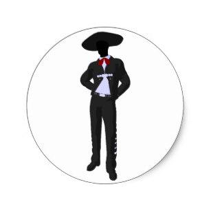 307x307 Mexican Mariachi Stickers Zazzle