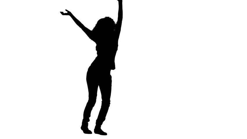 852x480 African American Female Mariachi Illustration Silhouette